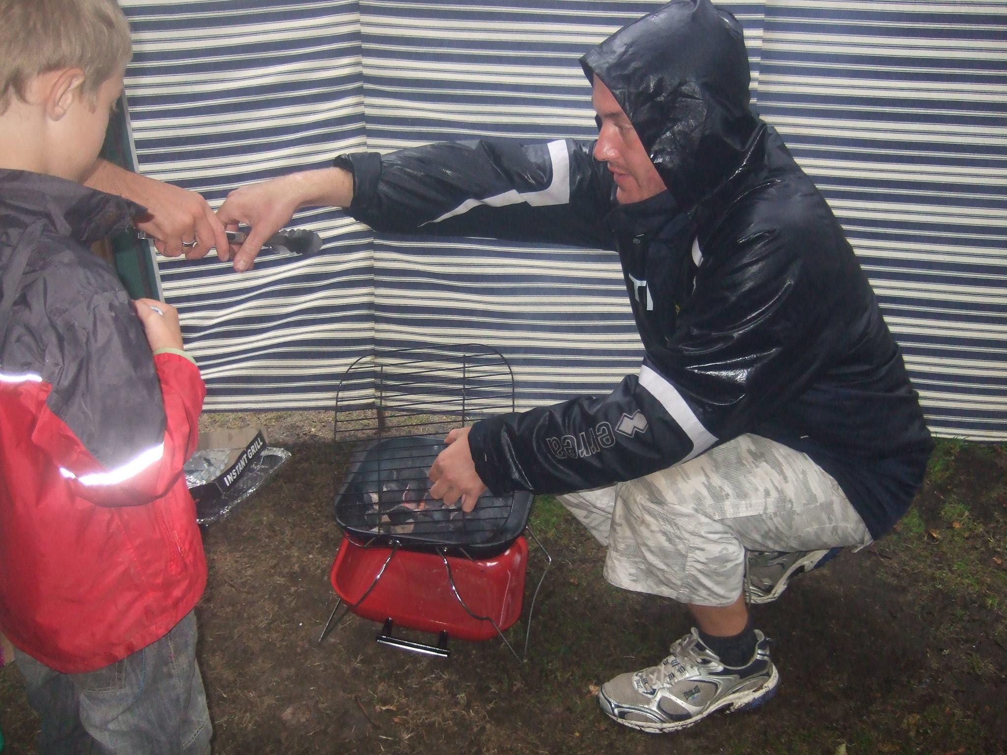 bbq in the rain