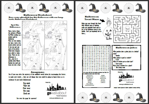 halloween worksheet u2013 fun and games for kids