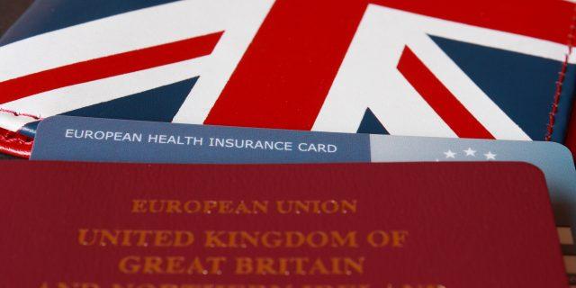 european health insurance card and passport
