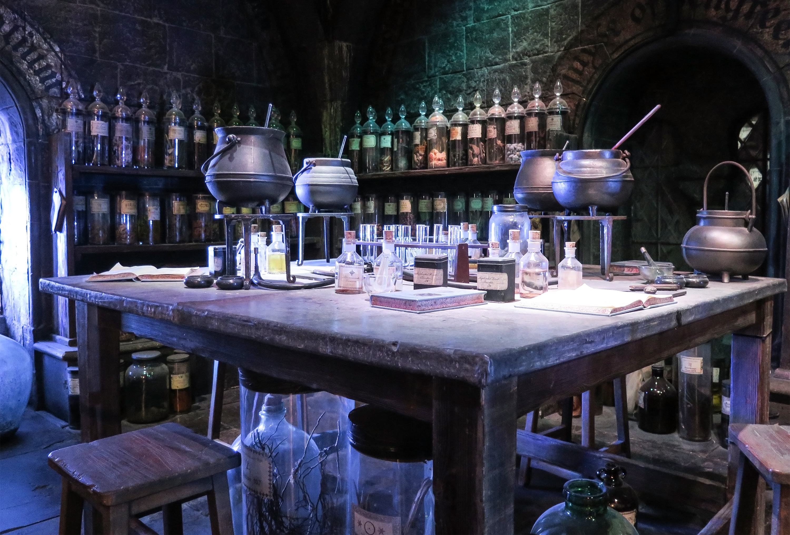 Harry Potter Potions Class from the Hogwarts School of Witchcraft and Wizardry film set