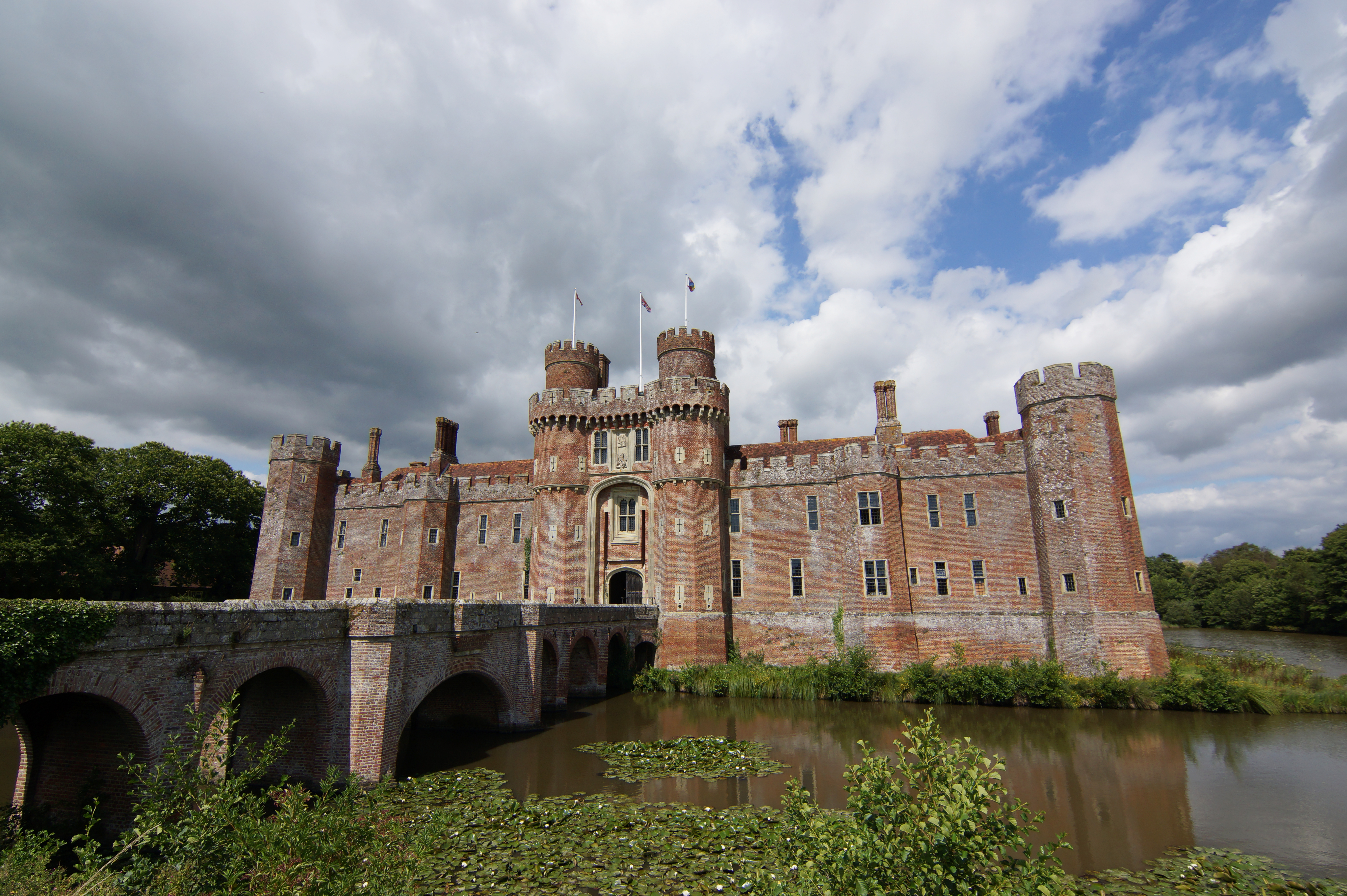 Herstmonceux Castle, Hailsham, East Sussex, England, UK